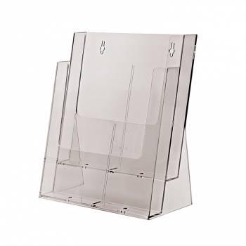 Portafolletos doble espacio Mostrador/Pared (A4)
