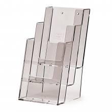 Portafolletos 3 espacios en escalera sobremesa / pared (1/3 de A4)