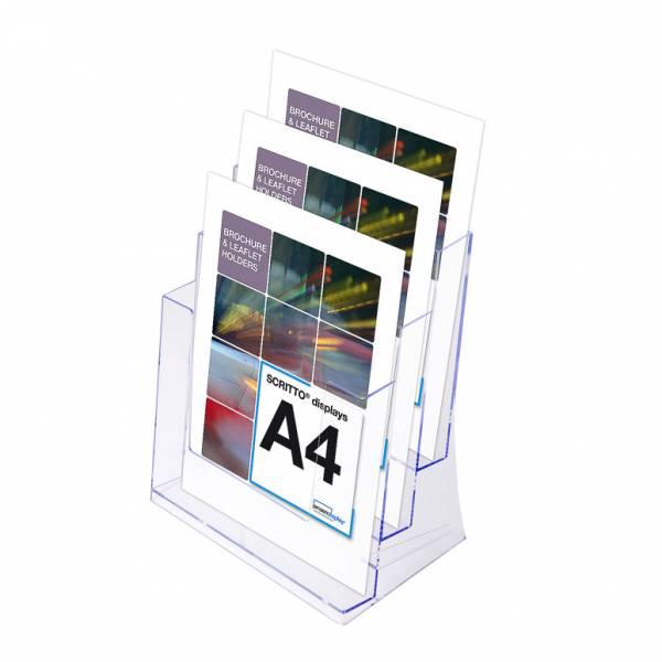 Portafolletos triple Mostrador/Pared (A4)