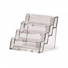 Porta tarjetas de sobremesa horizontal (4 espacios)