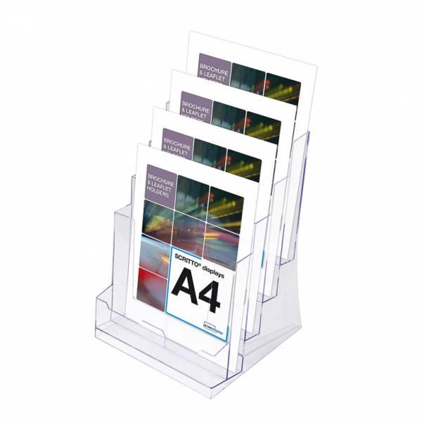 Portafolletos cuádruple espacio Mostrador/Pared (A4)
