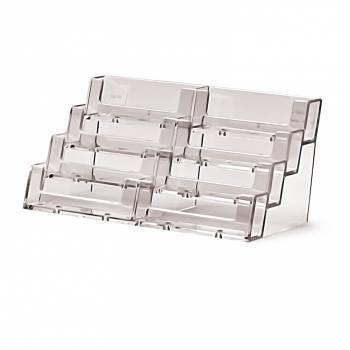 Porta tarjetas de sobremesa horizontal 8 espacios