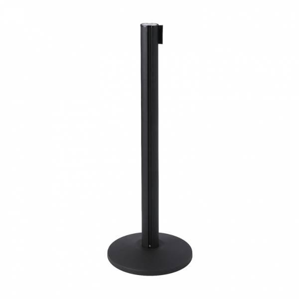 Poste separador negro con cinta extensible (cinta negra)