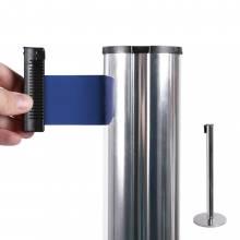 Poste separador con cinta extensible (cinta azul)