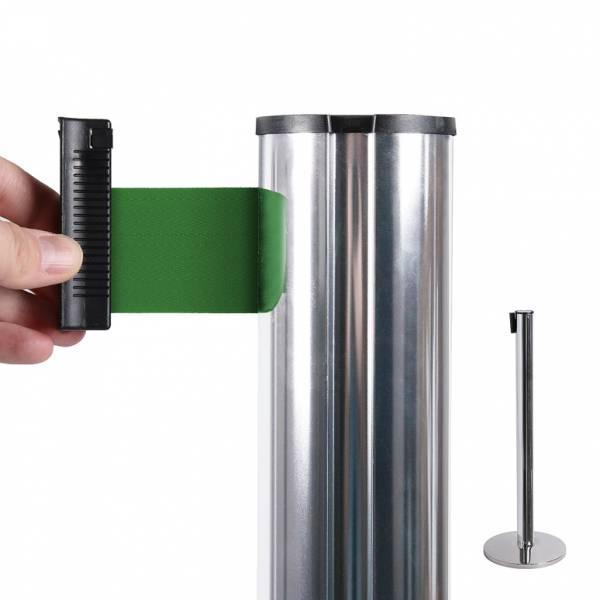 Poste separador con cinta extensible (cinta verde)