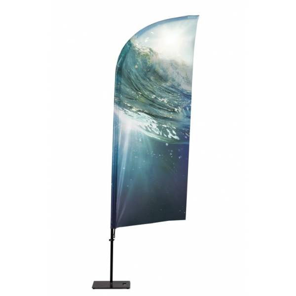 Bandera Publicitaria de Aluminio tipo Vela