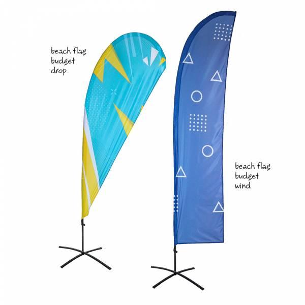 Bandera Publicitaria Económica tipo Vela y Gota Grande