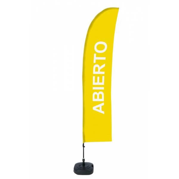 """Bandera Diseño """"Abierto"""" (Set Completo)"""