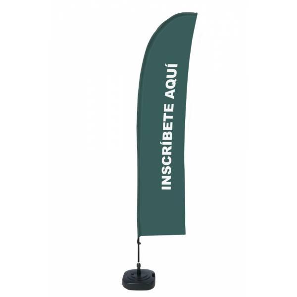 """Bandera Diseño """"Inscríbete aquí"""" Gris (Set Completo)"""