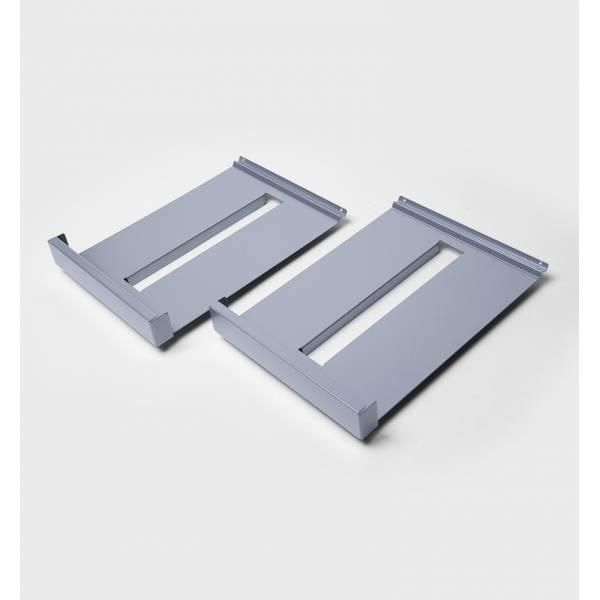 Estantes metálicos para expositores de folletos (A4) (2 uds.)