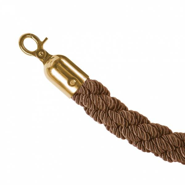 Cordón separador color bronce (terminal dorado)