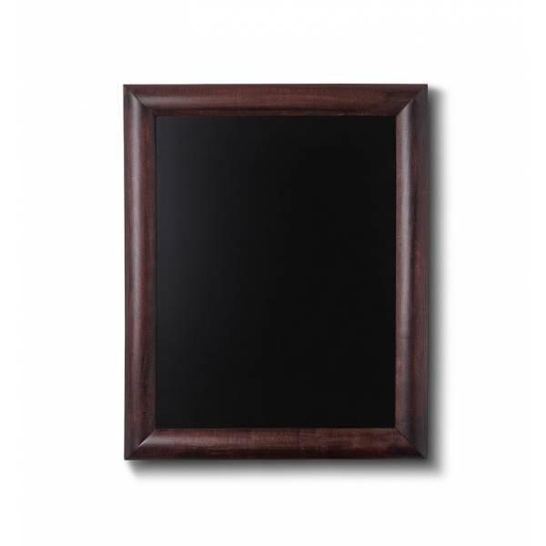 Pizarra de madera, perfil redondo. Color marrón oscuro.