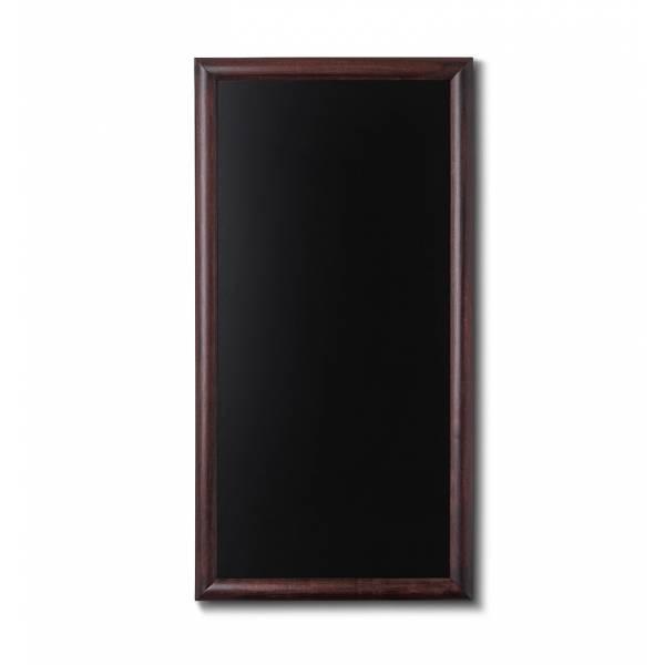 Pizarra de madera. 56 x 100, color marrón oscuro