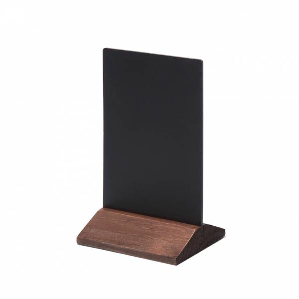 Soporte de menú de madera económico marrón oscuro 100mm