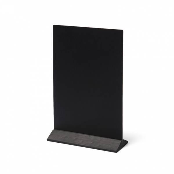 Soporte de menú de madera económico negro 210mm