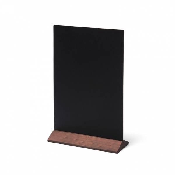 Soporte de menú de madera económico marrón oscuro 210mm