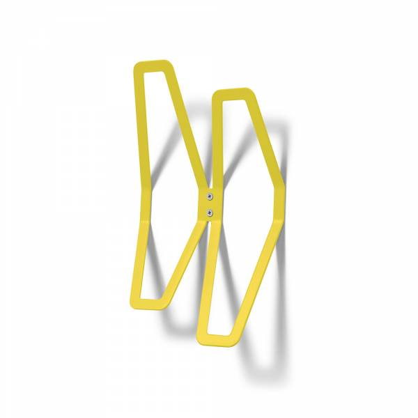 Colgador de pared de diseño Amarillo
