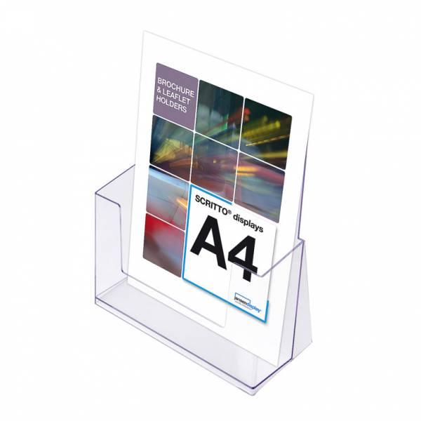 Portafolletos transparente Mostrador/Pared (A4)