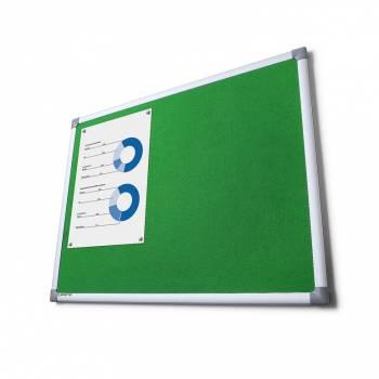 Tablon de anuncios tapizado verde 90x120