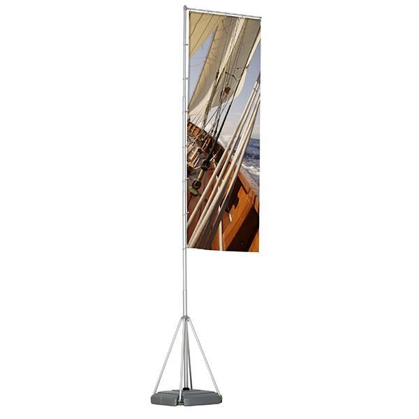 Barra de bandera 540 cm, Box 1 Pole