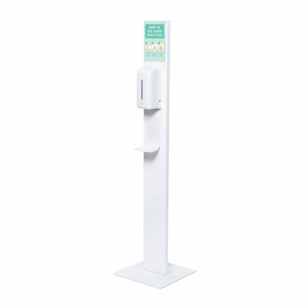 Soporte dispensador de desinfectante para manos automático