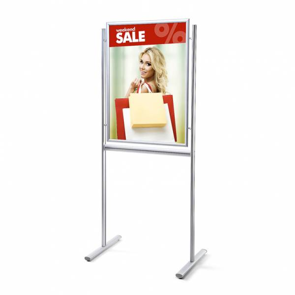 Panel informativo portapóster 25 mm 70x100 a inglete