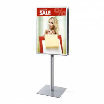 Stand info pole 70 x 10. Marco 25 mm a inglete doble cara