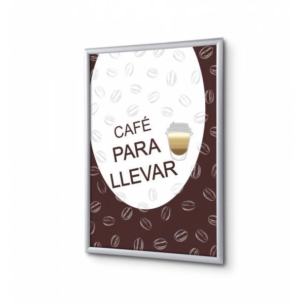 Set Completo de Marco Abatible A1 Café Para Llevar Español
