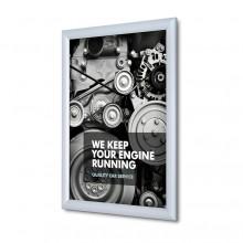Marco para póster 25 mm, ingelete, A3, Perfil de seguridad