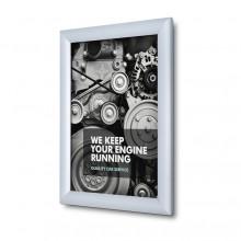 Marco para póster 25 mm, ingelete, A4, Perfil de seguridad