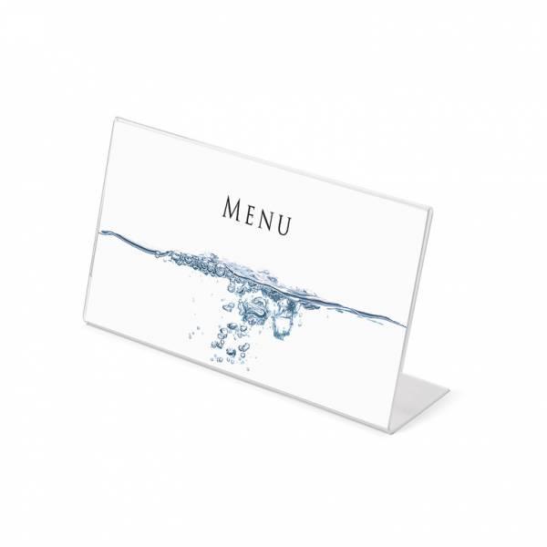 Soporte para folletos y menús horizontal (1/3 de A4)