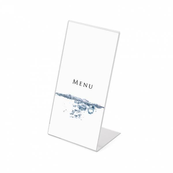 Soporte para folletos y menús vertical (1/3 de A4)