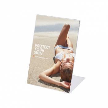 Soporte para folletos y menús vertical (A4)