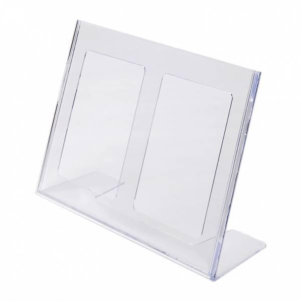 Soporte para folletos y menús horizontal de poliestireno (A4)