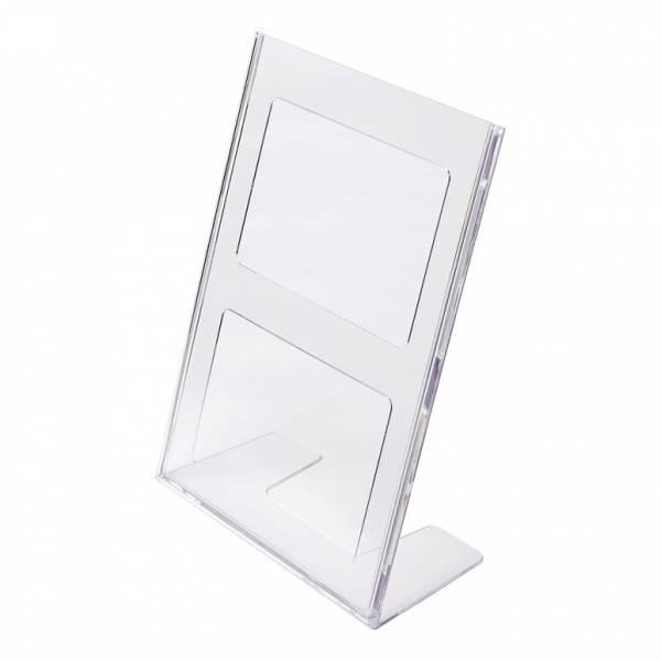 Soporte para folletos y menús vertical de poliestireno (A4)