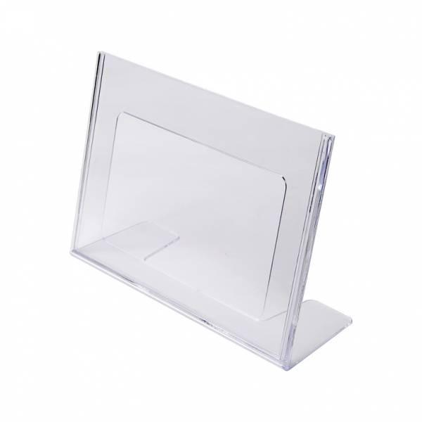 Soporte para folletos y menús horizontal de poliestireno (A5)