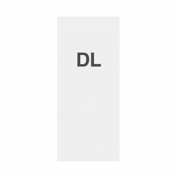 Papel de alta calidad 135g/m2, superficie satinada, DL (99x210mm)