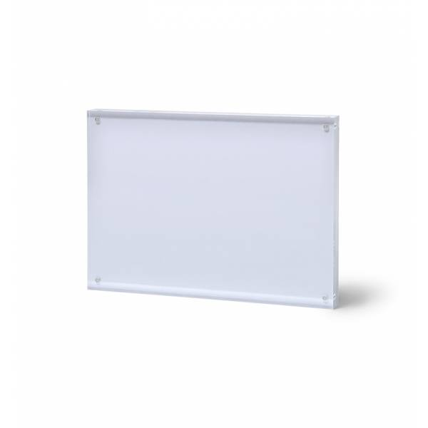 Soporte magnético para folletos y menús horizontal (A5)