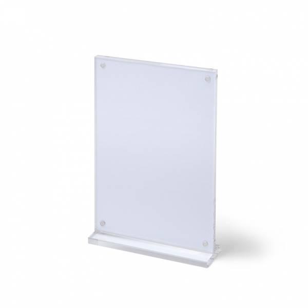 Soporte vertical magnético para folletos y menús (A4)