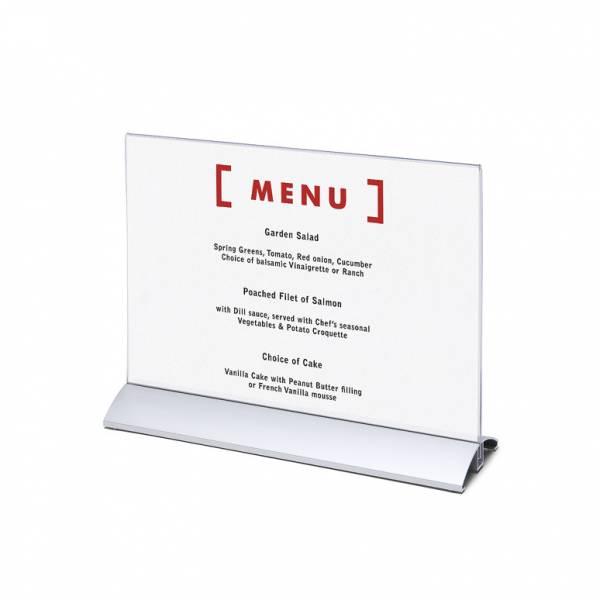 Soporte para folletos y menús, base de aluminio (A4)