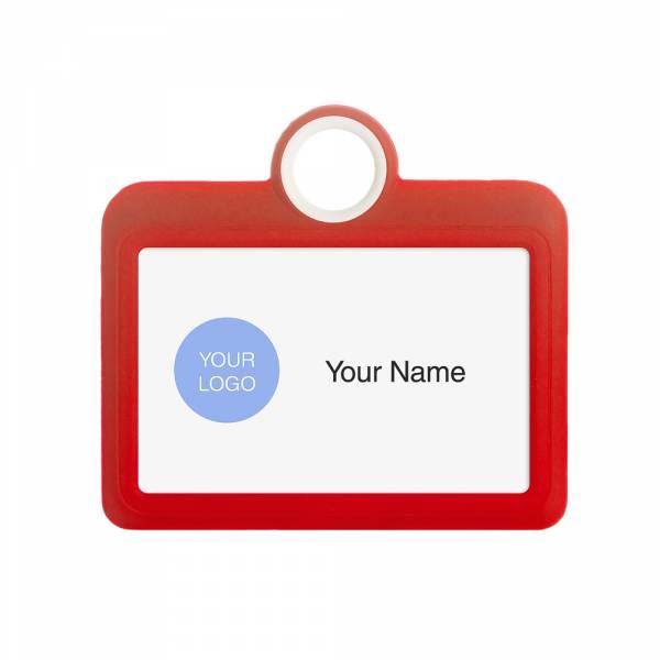 Porta identificación horizontal 85x54 rojo