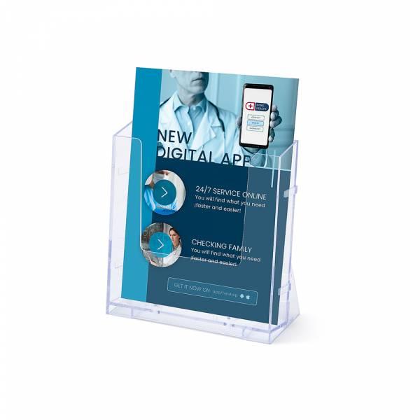 Portafolletos de pared transparente (A5)