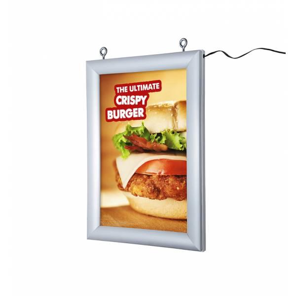 Marco póster LED (A4) de doble cara
