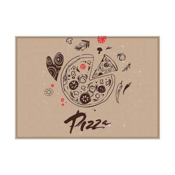 Mantel Individual Pizza Abstracto