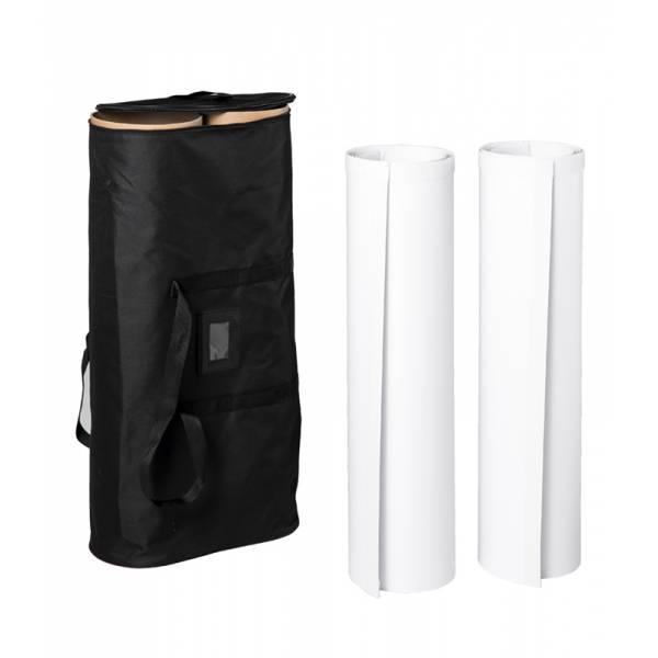 Pop-Up Fabric Gráfica Premium Straight