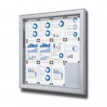 Vitrina exterior magnética Premium (12xA4)