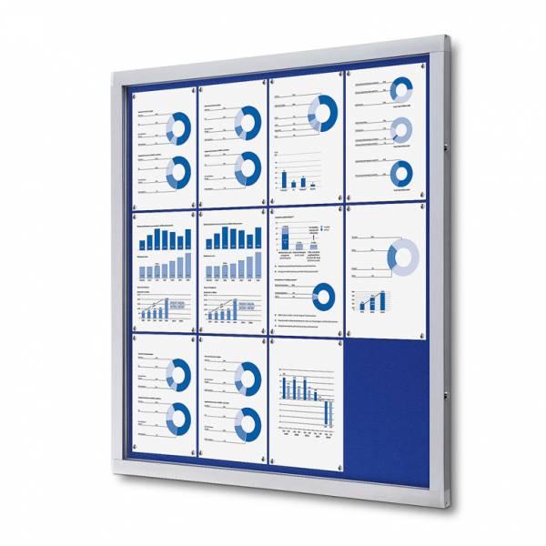 Tablón de anuncios de fieltro azul (12xA4)