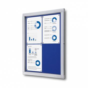 Tablón de anuncios de fieltro azul (4xA4)