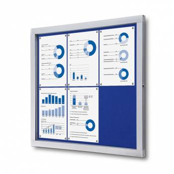 Tablón de anuncios de fieltro azul (6xA4)