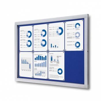 Tablón de anuncios de fieltro azul (8xA4)